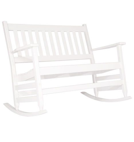 Classic Double Rocking Chair White D3703