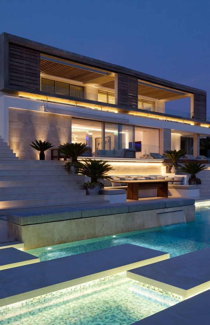 Pin modern villa projeleri ve modern villa modelleri on pinterest - Modern Villa Roca Llisa Located In Breathtaking Ibiza Architecture Beast