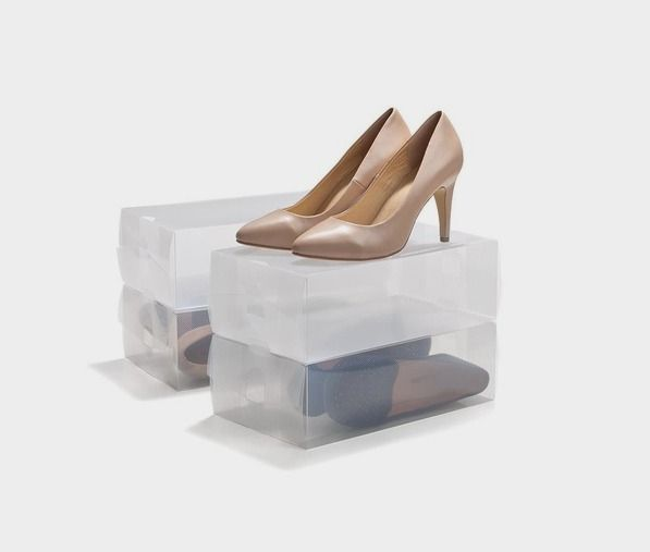 Clear Shoe Boxes - Set of 4 | Kmart