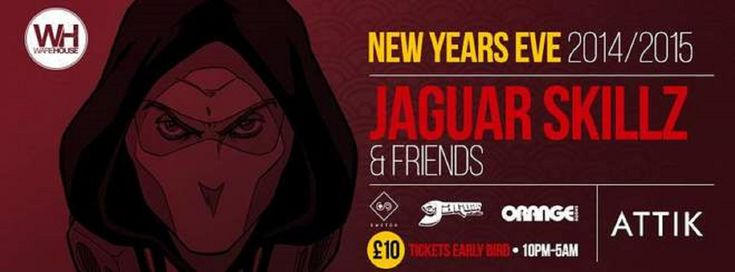 SOTONIGHT | Switch pres. NYE 2014 #2: Jaguar Skills + Friends - Attik Southampton (RoXX) - http://www.sotonight.net/event-tickets/switch-pres-nye-2014-jaguar-skills-attik-southampton-roxx/  Due to the phenomenal demand for our SOLD OUT Chase & Status Show on NYE we have managed to secure the mix-master himself JAGUAR SKILLZ for a very special NYE Show! BUY TICKETS  JAGUAR SKILLZ + his Amazing Friends – 2hr Set!£10 Early Bird Tickets! Presented by Switch,