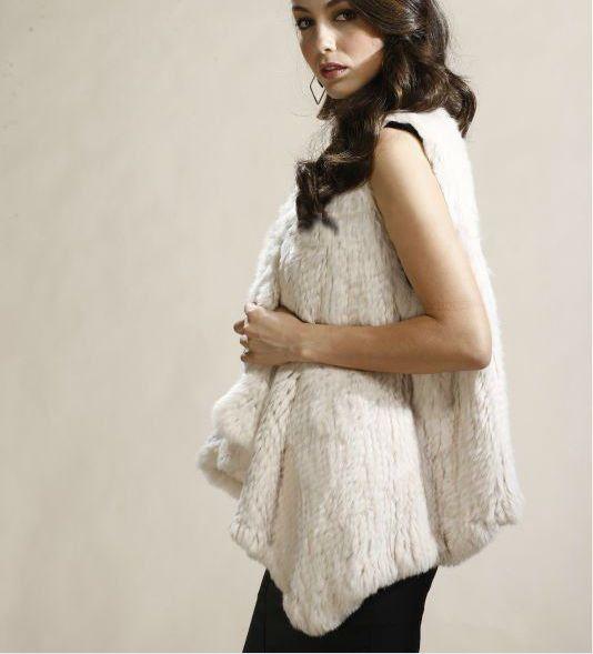 White Rabbit Fur Vest. One size $329