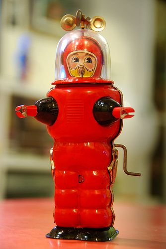 Moon Explorer Yoshiya circa 1959 Japan by Robot Panda, via Flickr