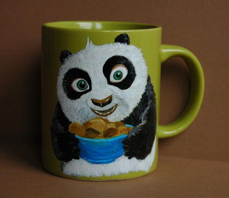panda - ręcznie malowany kubek, utrwalony w wysokiej temperaturze artist: Edyta Muszelik