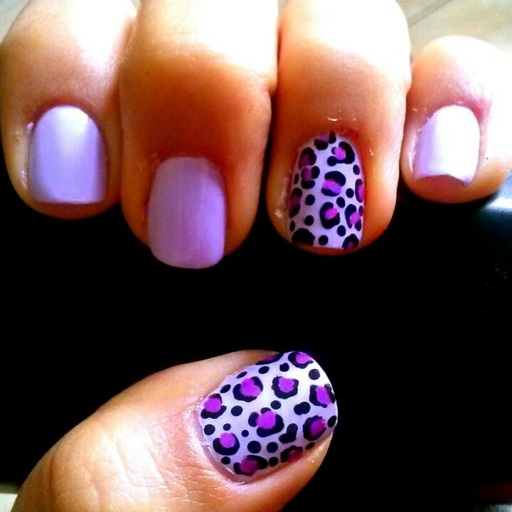 Love purple and leopard print