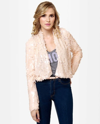 Luck Dragon Blush Sequin Jacket