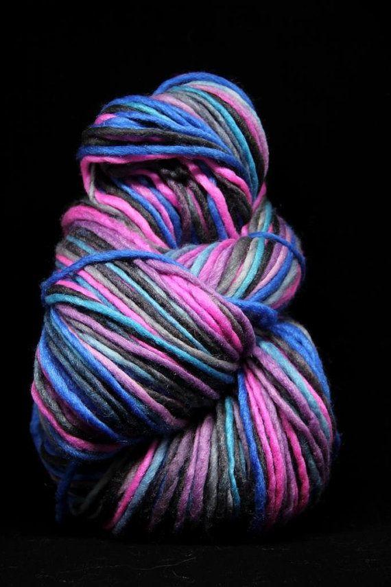 ASTER FLOWER  Hand Dyed Handspun Single Play Yarn  by VLNAart