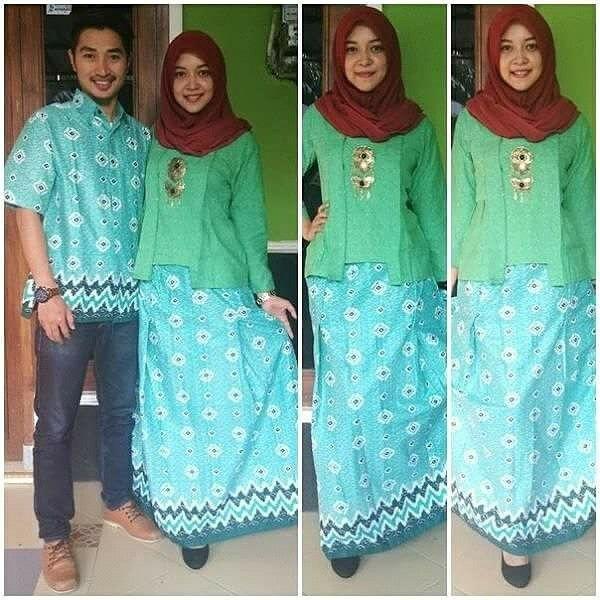 Gamis batik sarimbit Ukuran kebaya dan rok all size Hem M,L,XL   Order silahkan ke 53899867