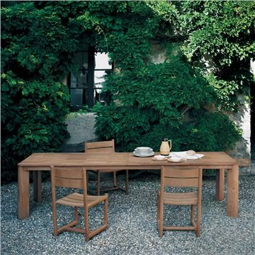 RODA Brick Extendable Table   Style # BRK00x 01, Modern Outdoor Dining Table  U2013