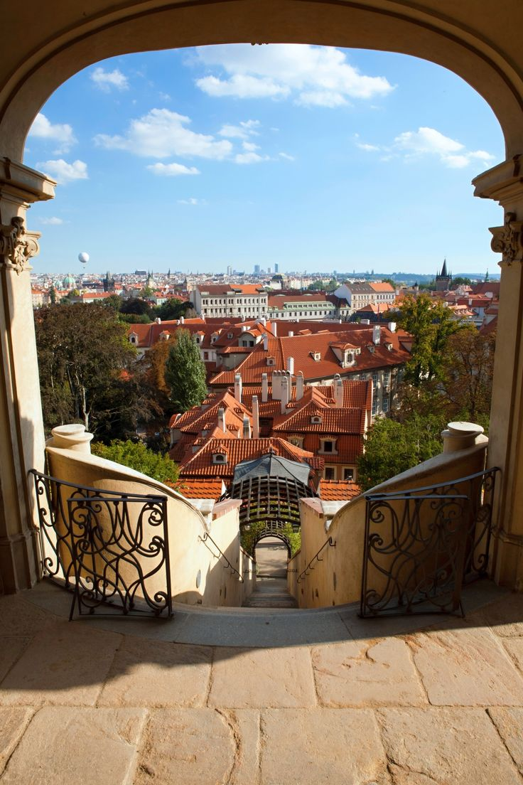 Discover Europe's most amazing cities, like visiting the Furstenberg Garden in Pague, Czech Republic