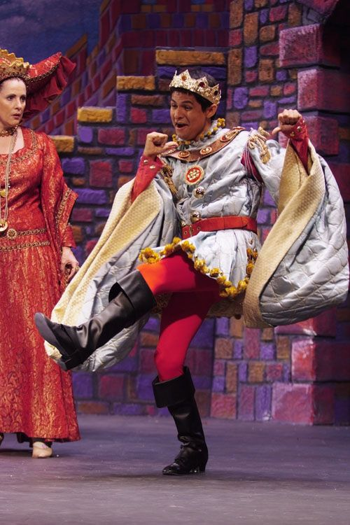 Prince Dauntless dances.  (Once Upon a Mattress).  In the Disney version, is seems to be a more important character than even the Princess.