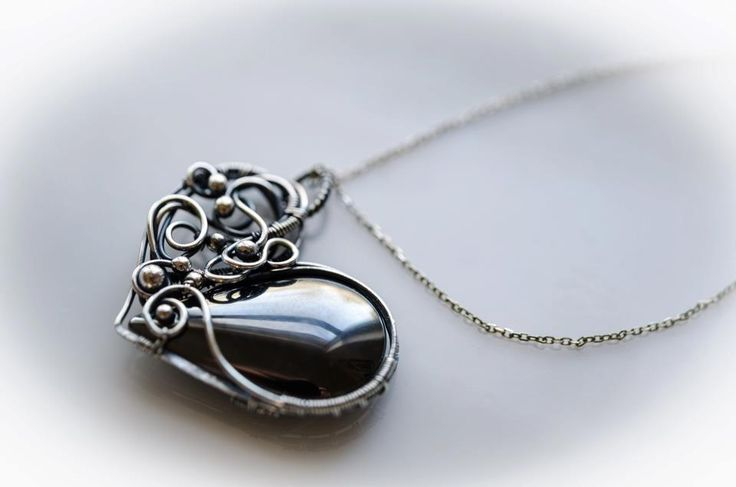 wire wrapped silver earring