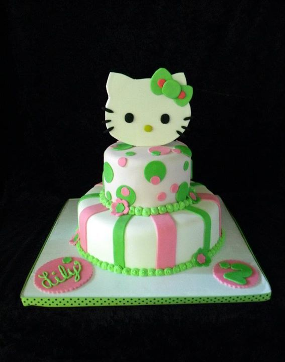 anniversary cake images hello kitty green and pink www pixshark images 1318