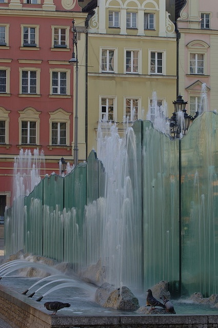 Fountain on Main Square, Old Town, Wrocław, Poland