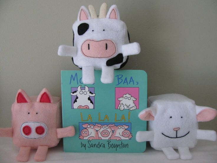 Felt Pattern - Barnyard animals - Moo, Baa, LaLaLa inspired - Felt Cubes/Blocks Plushie Toy Sewing Pattern - DIY pig, sheep & cow blocks. $4.99, via Etsy.