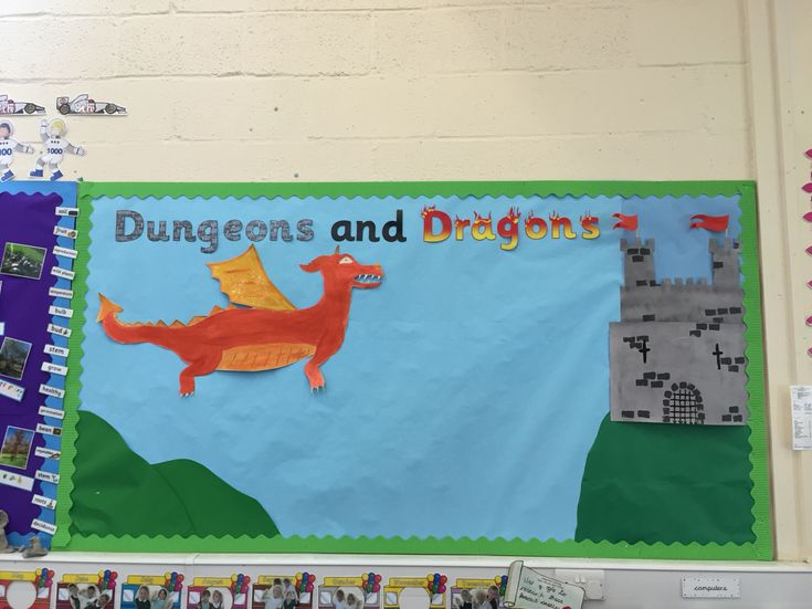 Dungeons and dragons display board ks1 castles topic