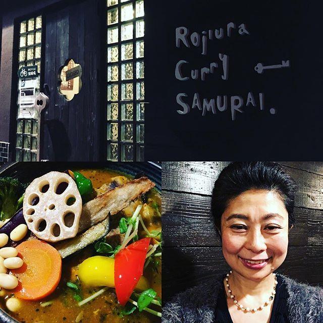 お手入れのお客様と一緒に😊 久しぶりにスープカレー食べました。 その名も『侍祭り』(^-^) 基本の野菜達の他に、 好きな具材を3種類選びました。 「チキン、ハンバーグ、豚シャブ」 私はなんと、肉、肉、肉❣️ 肉祭り。 笑笑 #スープカレー #侍祭り #スープカレー侍 #OTEIRE #肉 #野菜