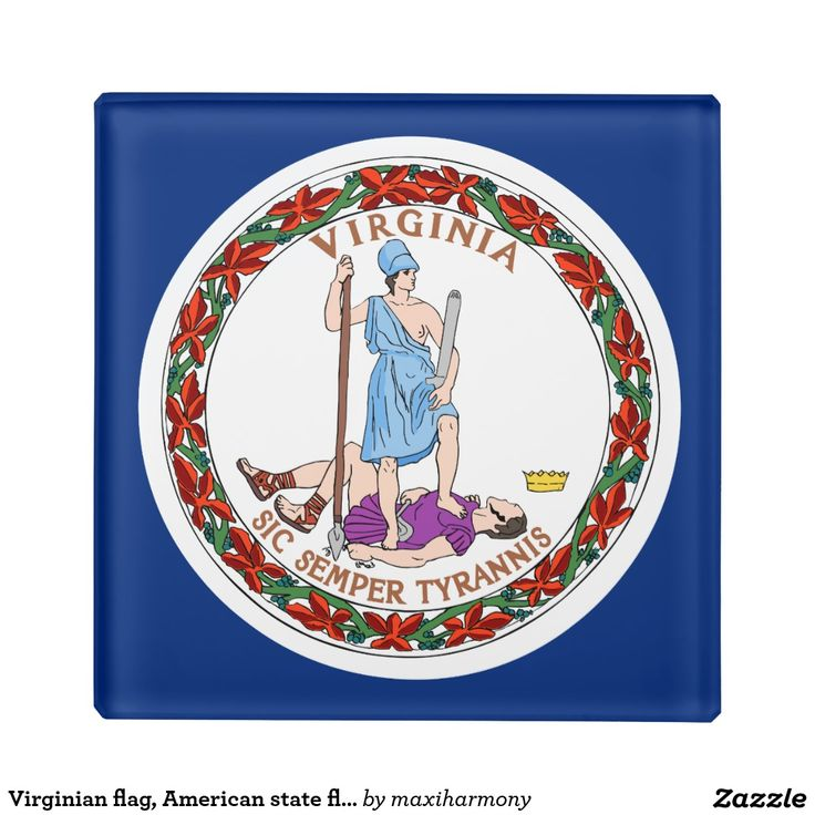 Virginian flag, American state flag Glass Coaster