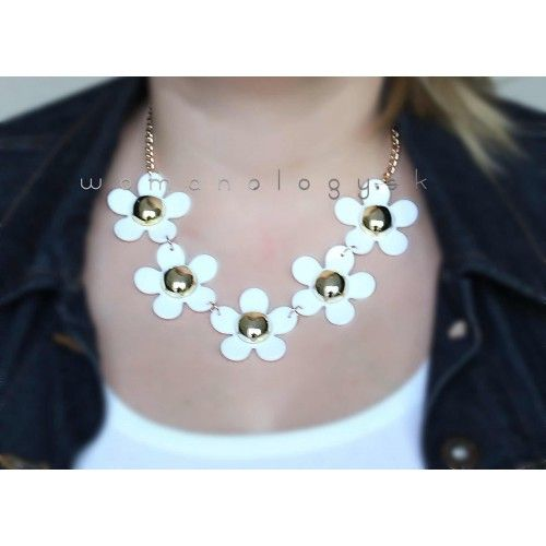 Náhrdelník Spring White Daisy #necklace #necklaces #accessories #fashion #style #fashionjewelry #fashionjewellery #bijoux #bijouterie #womanology