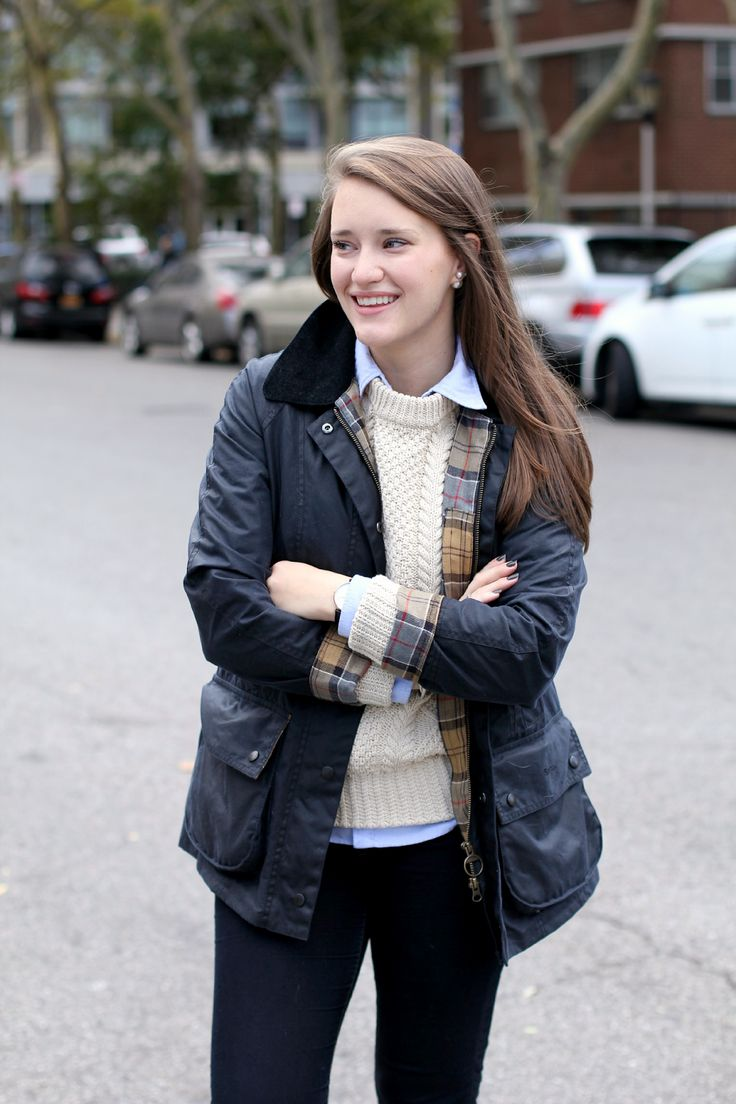 Covering the Bases | Fashion and Travel Blog in NYC by Krista Robertson: Navy Barbour Beadnell Waxed Jacket