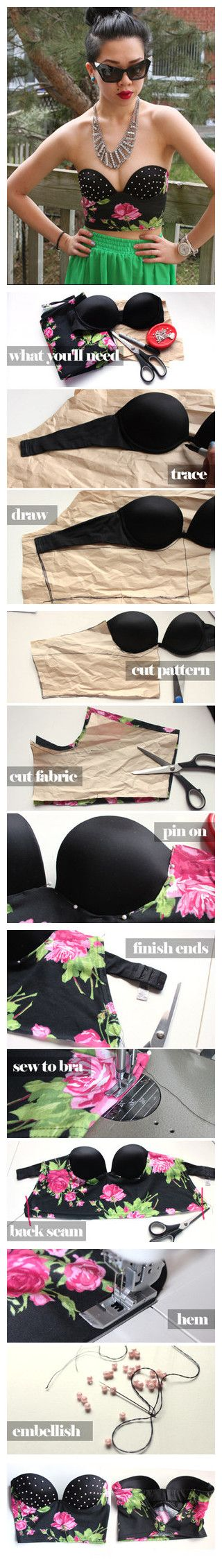 DIY top with built-in bra