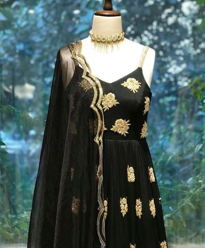 26c344ebf6 Beautiful Hand Embroidered Silk Dress. Paired with net dupatta. #Kayradelhi  #dress #Embroidery