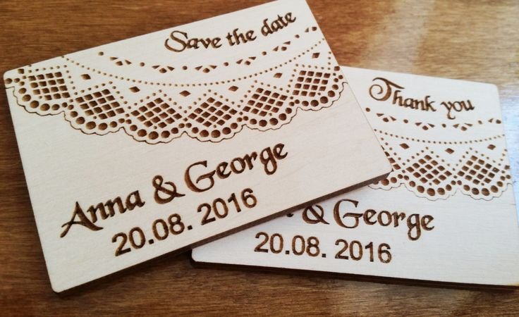 Laser cut engraved save the date wooden cards, wedding thank you cards, personalised wooden wedding favours x 10 pieces by Stylishmoments on Etsy
