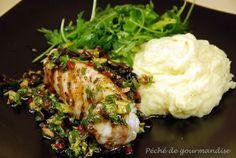 Lotte grillée et sauce aux olives noires de Jamie Oliver