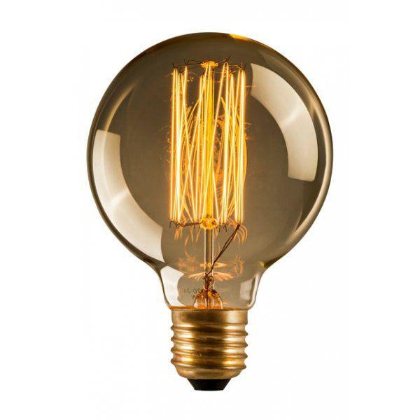 Ampoule Incandescente Décorative Globe E27 40W Ø8cm   FILAMENT GLOBE 80