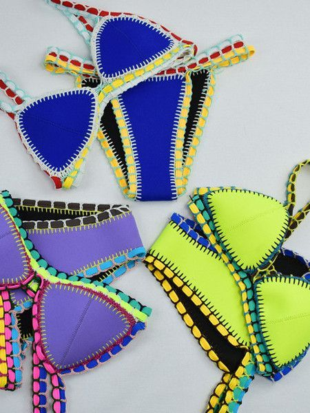 I like this hand made bikini. Every one is different .