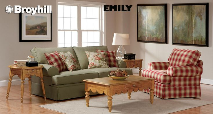 Plaid country style couches on green country plaid furniture sets