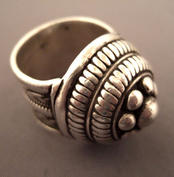 India | Ring from Rajasthan; where architectural motives and shaped dome design recall many historic monuments of Rajasthan | Silver | Sold