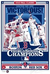 2013 World Series Champions Sports Propaganda Handmade Limited Edition Screen Print Signed by Artist - Boston Red Sox. #Boston #WorldSeriesChamps #RedSox