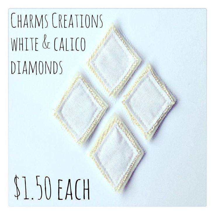*DIY* White Calico Diamonds / Charms Creations