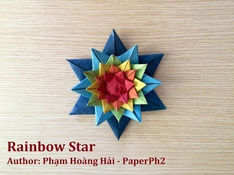 How to make Rainbow Star - Phạm Hoàng Hải - PaperPh2 - YouTube