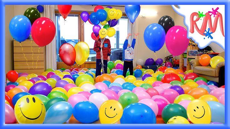 СЮРПРИЗ 300+ Воздушных шариков на ДЕНЬ РОЖДЕНИЯ. Пранк с воздушными шара...