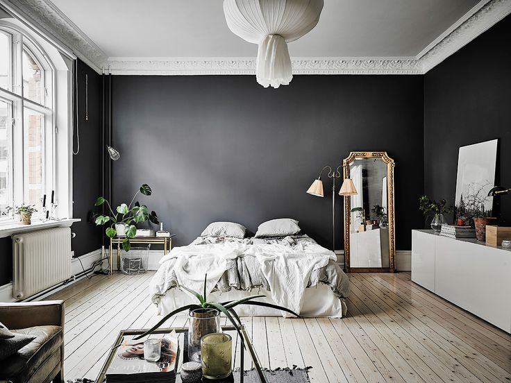 This Small, Dark-Walled Studio Apartment is Proof that Rules are Made to Be…