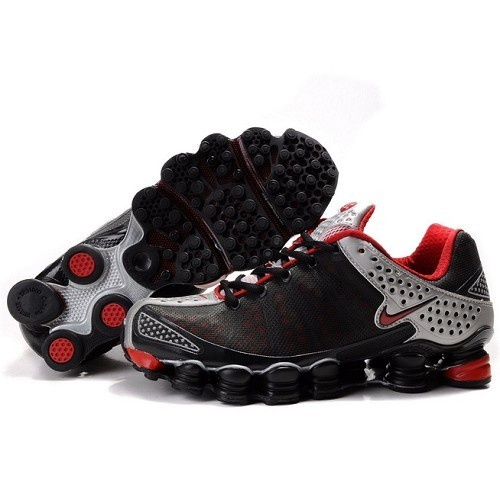 Nike Shox TL3 Black / Matte Silver - Varsity Red Men Shoes 1001 For $51.00  Go