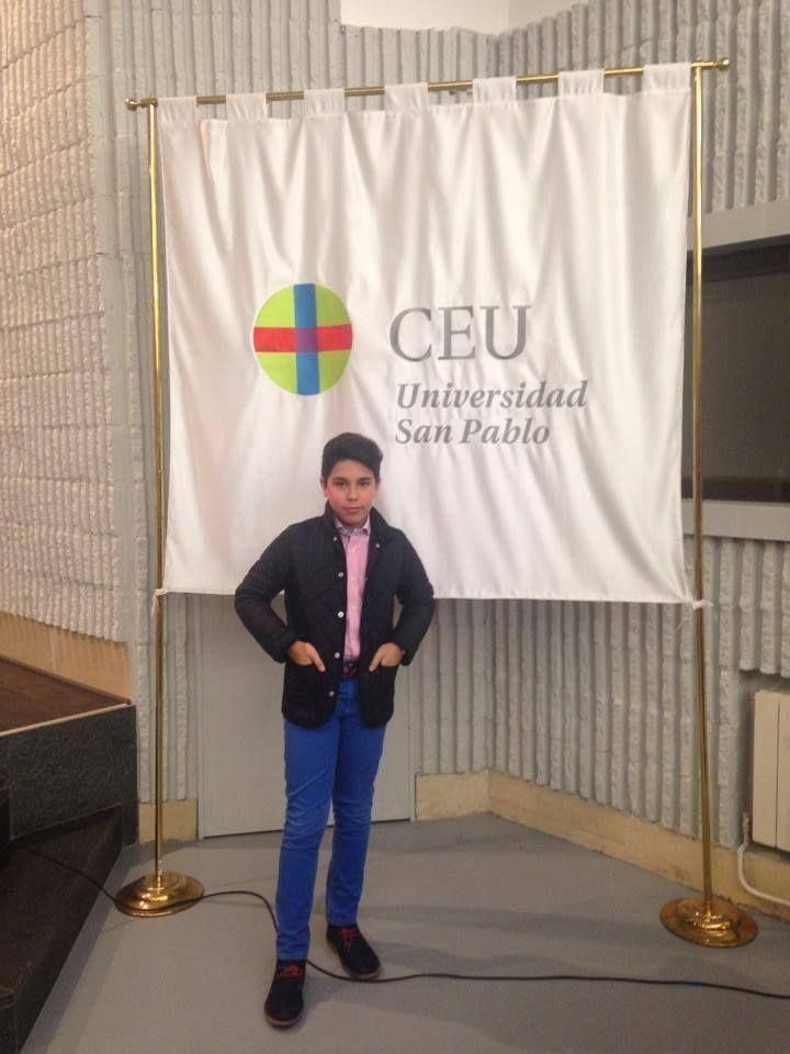 Momento de la presentación de su libro en la Universidad San Pablo CEU en Madrid.
