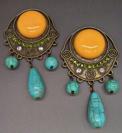 Brinco com Pedras Naturais. Peça unica compre pelo site http://www.makkmur.com