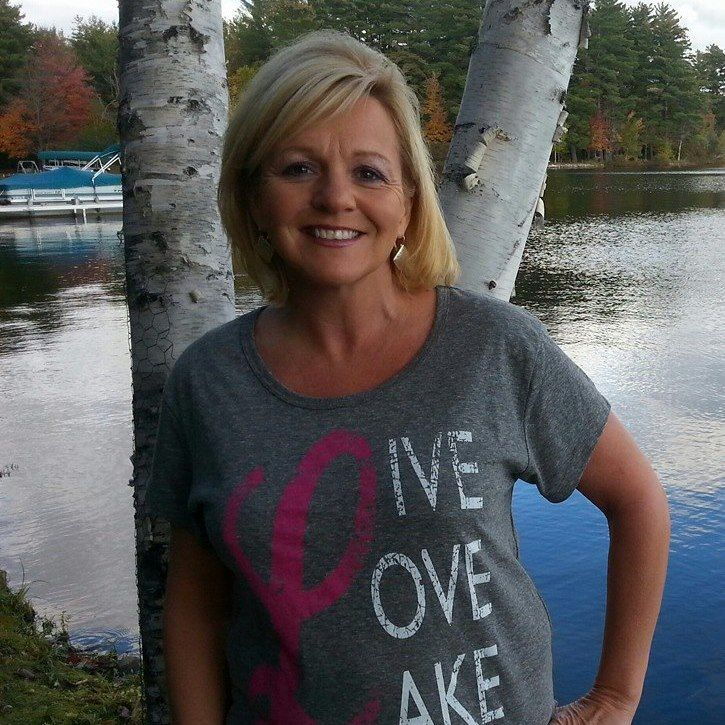 Live Love Lake Tri Blend Ladies Tee w/scoop neck and hem.  An updated design of one of our best sellers.