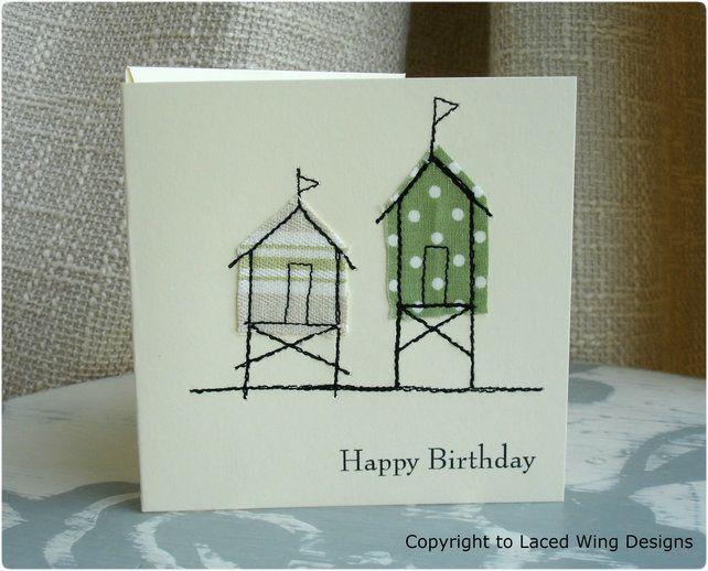 Happy Birthday Beach Hut Greeting Card £3.50