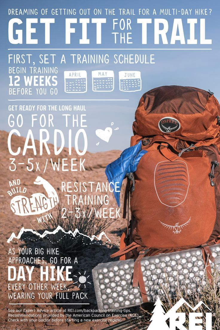 How to get fit for the Trail.Training Tips and Exercises. Whether you're gaining elevation or out for a joyous weekend adventure with friends, training can help make any trip more enjoyable. Use these backpacking training tips, instructions and workout plan at Thru-Hiking.
