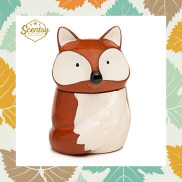 Red Fox Scentsy warmer from the Fall 2016 catalog. #RedFox #Fall #WhatDoesTheFoxSay #WoodlandAnimals #Fox #Scentsy