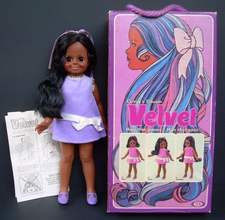 1970 Black Velvet Doll Ideal Gro Hair Crissy Cousin | eBay
