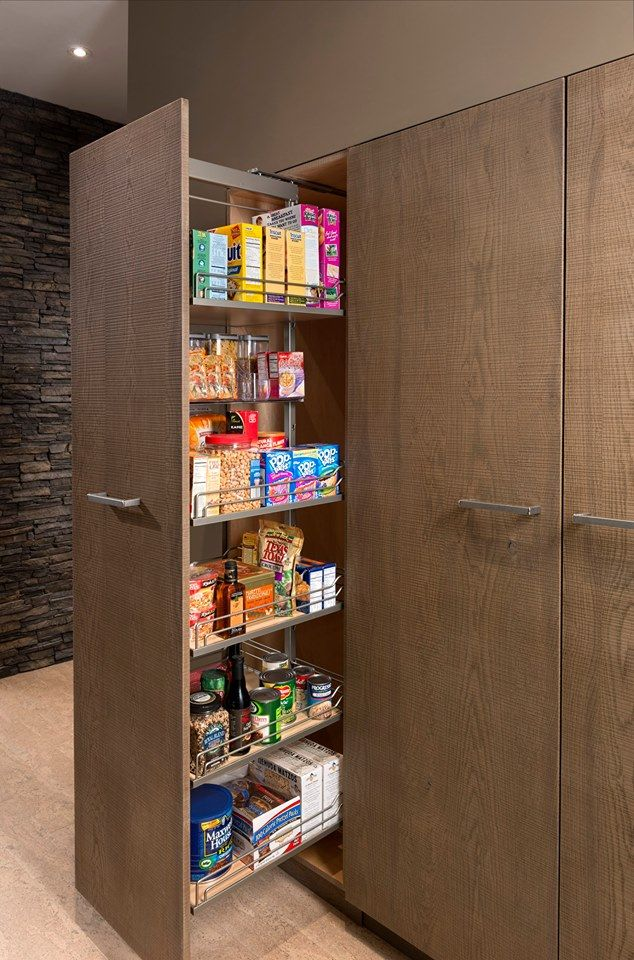 slide and store style with this custom pantry by woodmode http