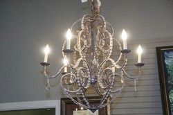 6 Light Chandelier Design by consignment $185 32x31