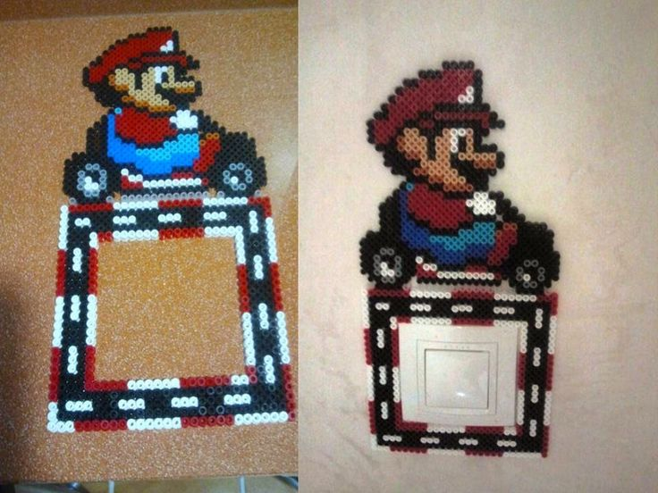 Mario Kart light switch cover hama beads by Andres Moreno Rodriguez
