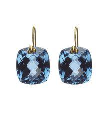 : London Blue Topaz, Topaz Earrings, Cushions Cut, Drop Earrings, Topaz Cushions, Nikki Baker, Amethysts Cushions, Cushions Drop, Products