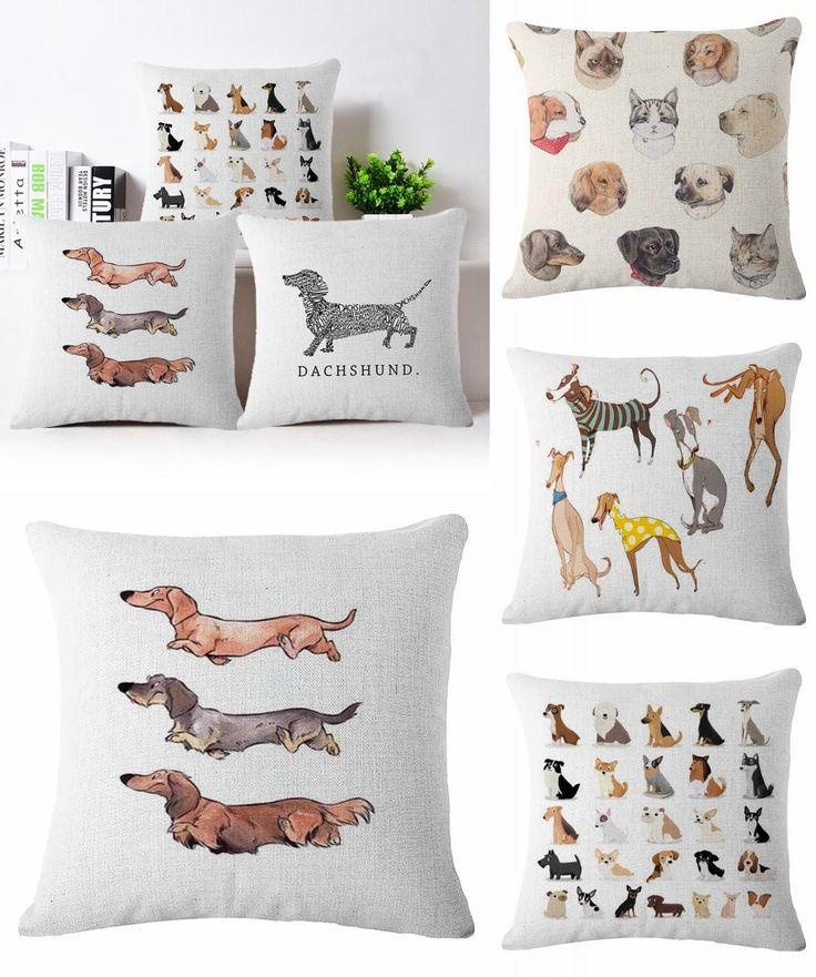 [Visit To Buy] Cartoon Dog Pawed Patrol Cotton Linen Bull Terrier Painted  Bull Dog