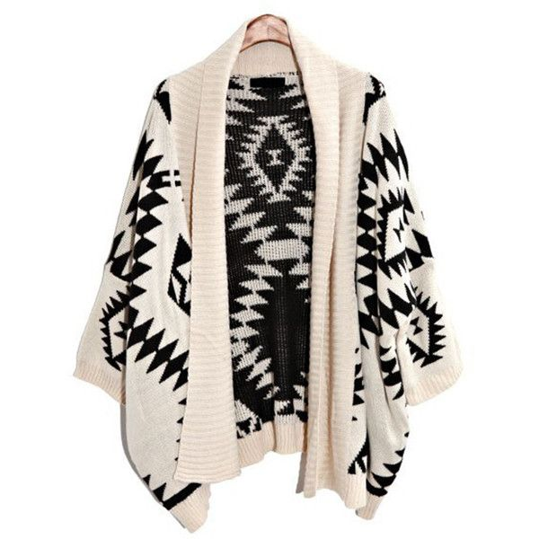 Beige Elegant Ladies Long Sleeve Aztec Cardigan Sweater Coat (220.975 IDR) ❤ liked on Polyvore featuring tops, cardigans, outerwear, beige, aztec pattern cardigan, long sleeve cardigan, pink top, aztec cardigan and pink cardigan